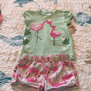 Gymboree flamingo set